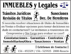 Inmuebles y legales - suseciones - ventas