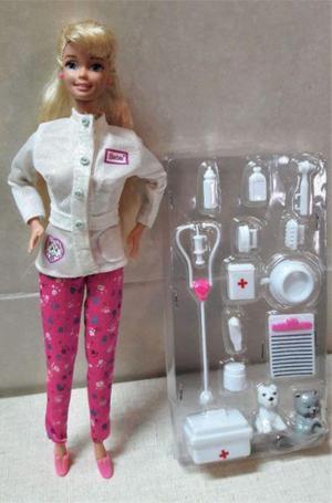 Muñeca barbie veterinaria con blister accesorios