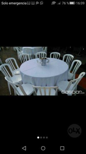 Mesas, sillas tablones manteles alquiler movali !!