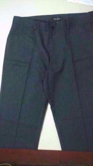 Pantalon de vestir invierno hombre pinzado -motor oil- t 46