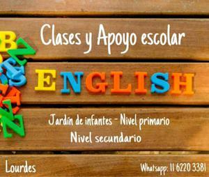 Clases y ayuda escolar de inglés jardín infantes,primario