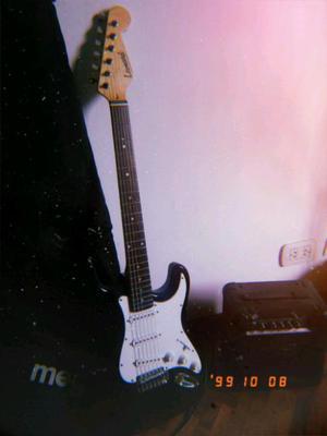 Guitarra eléctrica estrato leonard ampli funda