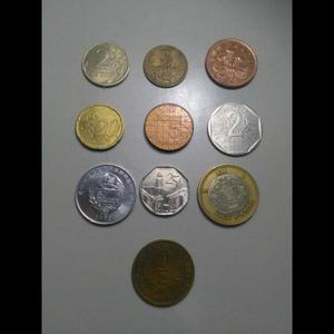 Lote monedas mundiales interesantes