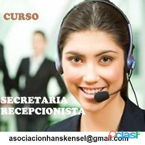 Secretariado recepcionista a distancia
