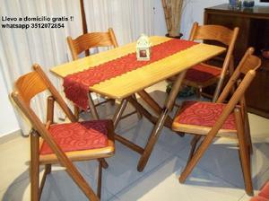 Comedor de madera maciza 4 sillas !! flete gratis !! ♥