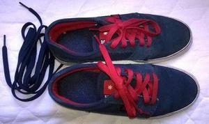 Zapatillas dc azules hombre gamuza.
