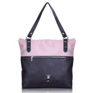 Bolso/cartera pu rosa/combinado