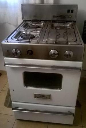 Cocina domec antigua acero inoxidable con grill 56 cm