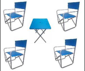 Mesas y sillas plegables linea jardin