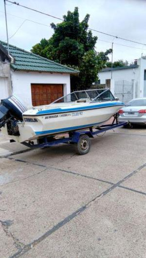Vendo o permuto lancha bermuda caribbean con evinrude 140 hp