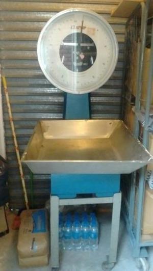 2 balanzas basculas 50 kg y 150 kg, c/ bandeja de acero inox