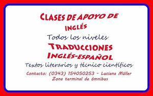 Clases particulares de inglés y traducciones inglés