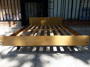 Cama madera 2 plazas fuerte y resistente lista para usar