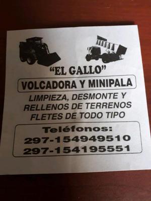 Servicios de camion y minipala