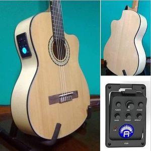 Guitarras electrocriollas tapa abeto ecu y afinador.-