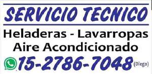 Servicio técnico. heladeras, lavarropas, aires split!