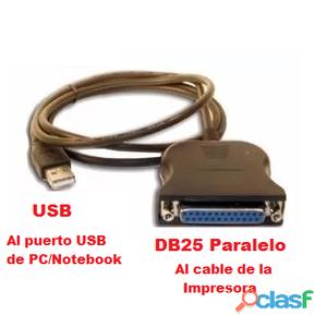 Conversor puerto paralelo lpt1 a usb matriciales, tickeadoras, comanderas, etc buenos aires