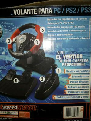 Vendo volante para pc ps2 y ps3