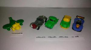 Muñecos kinder autos, aviones, patinetas