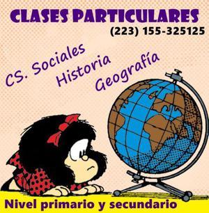 Clases particulares de geografía, historia y cs. sociales