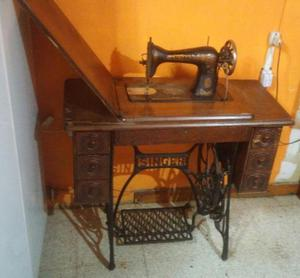 Maquina coser singer funcionando antigua