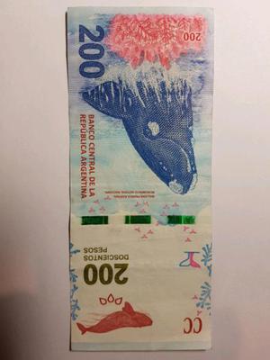 Vendo billete de 200 de reposición en la plata