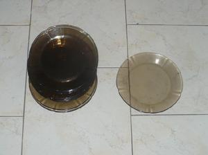 Lote de 9 platos pyrex de postre - 20 cm - apto microondas.