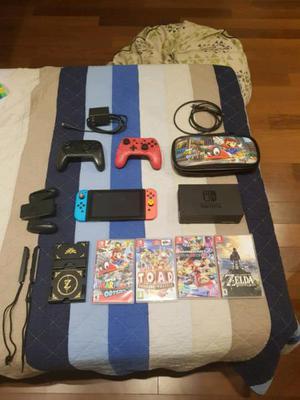 Nintendo switch 4 juegos extras