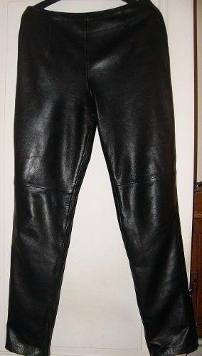 Pantalón inglés cuero oveja negro suavísimo pago