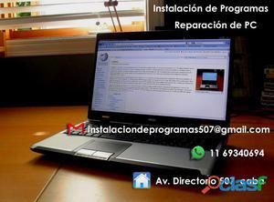 Instalacion de programas y reparacion de PC