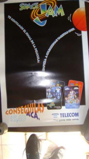 Coleccionismo tarjetas telefonicas afiche telecom space jam