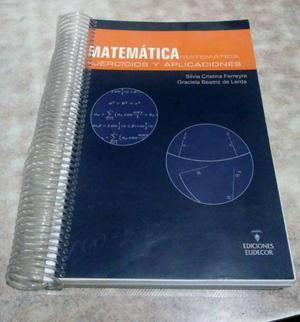 Vendo libro de matemática: ejercicios y aplicaciones de