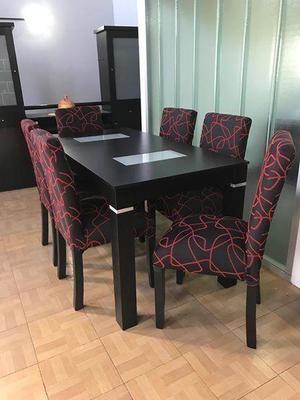 Combo mesa sillas chenille $7.700. envíos. entrega