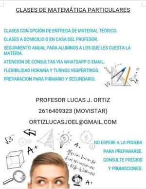 Profesor particular de matemática