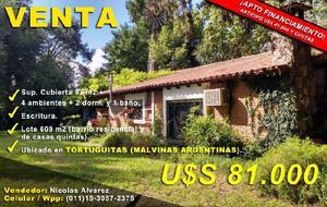Casa en tortuguitas zona quintas 4 amb 2 dorm a 400 mts ruta
