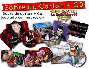 100 cajas de cartón sobre cd copiado e impreso en córdoba