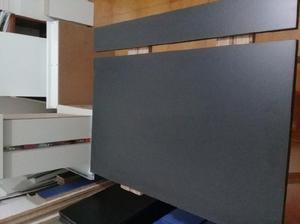 Mesa rebatible - ayudador de cocina. color negro. 80cm.