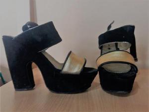Sandalias negras usadas (3 pares) n°38