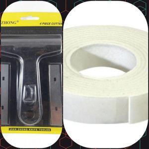 f9ccb07b5 Set cinta doble espumosa 18 x 3.7 mts cutter rasqueta