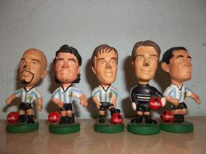muñecos seleccion argentina 98 coca cola