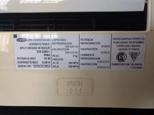Aire acondicionado carrier frío/calor