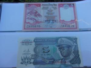 Billetes antiguos, monedas, lotes $400-c/u
