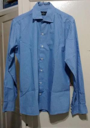 38351842f0 Camisa manga larga celeste a rayas talle 2 - impecable !