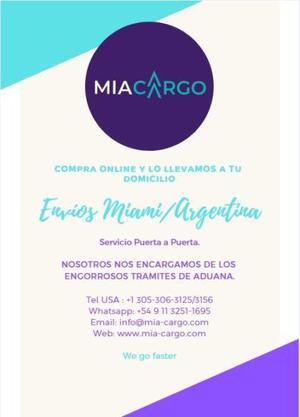Envíos miami/argentina puerta a puerta