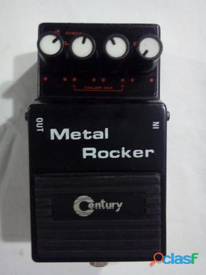 Pedal distorcionador p guitarra century metal rocker mr 70 impecable
