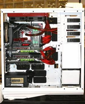 Pc gamer alta gama - sistema sli - sistema de water cooling