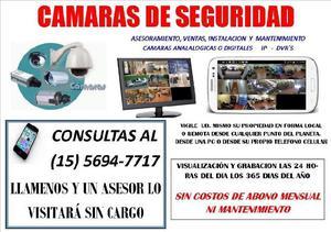 Cámaras de seguridad - instalaciones y mantenimiento