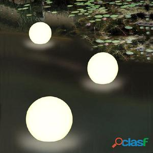 Esfera flotante led a pila