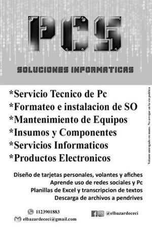 Servicios informaticos reparacion