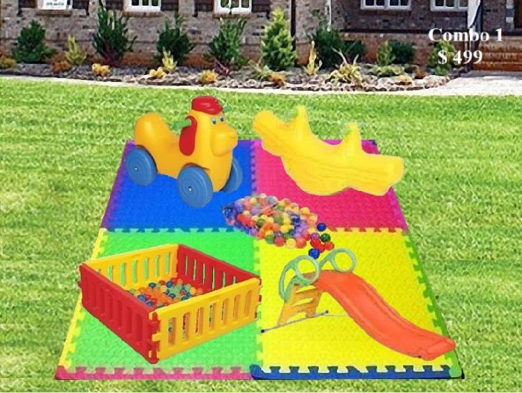 Alquiler juegos infantiles plaza blanda metegol para niños